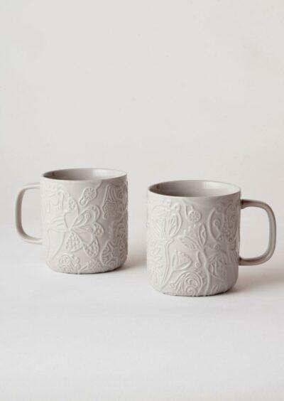 Angus & Celeste Imaginary Botanical Mugs Grey Pair