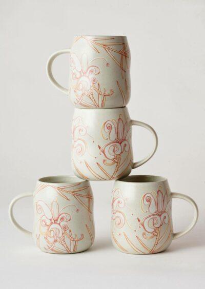 Angus & Celeste Everyday Mugs Grevillea Set of Four