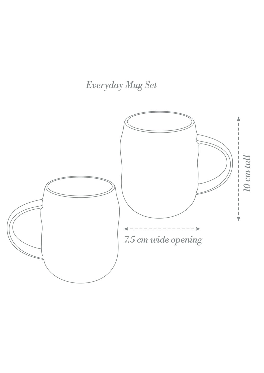 Angus & Celeste Everyday Mugs Product Diagram