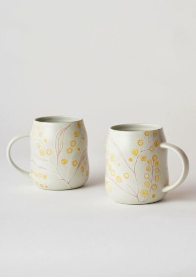 Angus & Celeste Everyday Mugs Wattle Pair