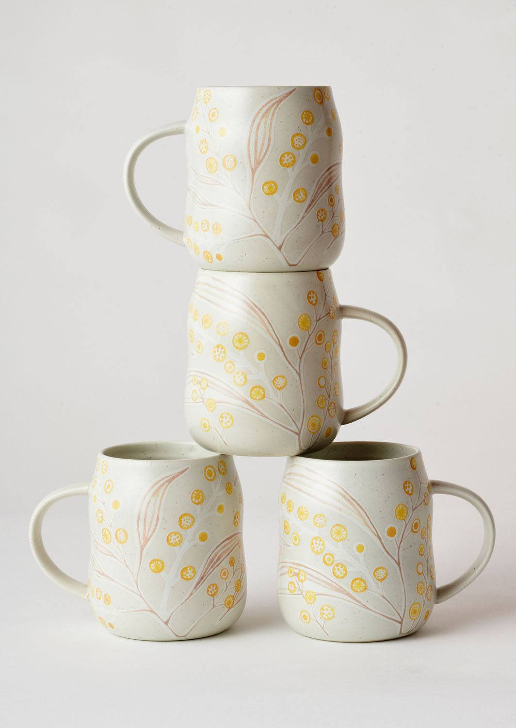 Angus & Celeste Everyday Mugs Wattle Set of Four