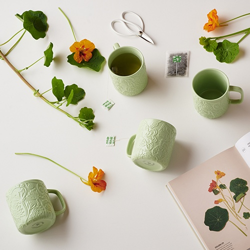 Angus & Celeste Imaginary Botanical Mugs Menu Tile