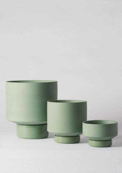 Angus & Celeste Collectors Gro Pot Trio Set Olive Green
