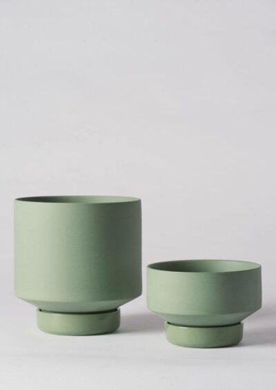Angus & Celeste Collectors Gro Pots Duo Set Olive Green