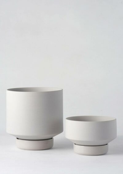Angus & Celeste Collectors Gro Pots Duo Set Light Grey