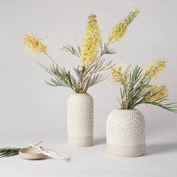 White-Water Bead Bud Vase Menu Tile