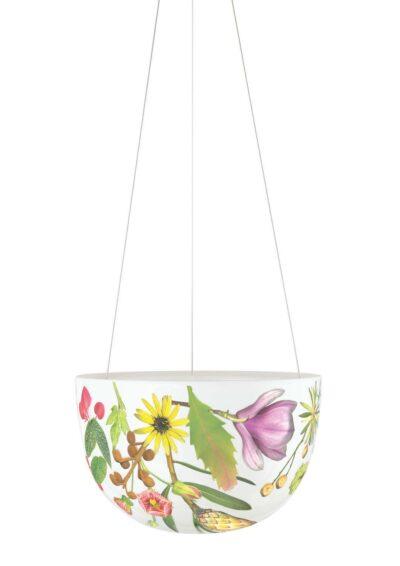 Decorative Hanging Planter Medium Spring Flowers