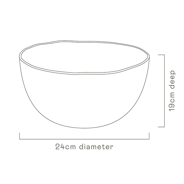 Bohemian Blue Salad Bowl specs image