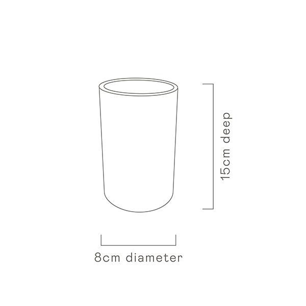Bohemian Blue Tall Tumbler Cup specs image