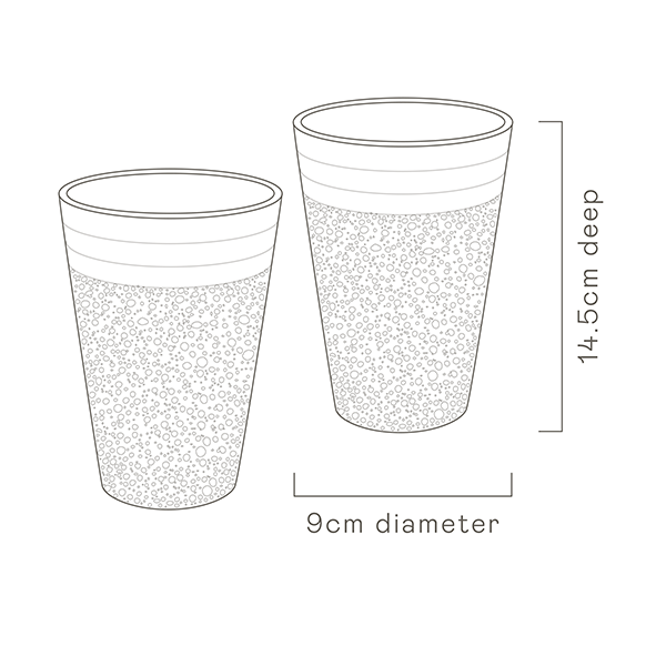 White-Water Bead Tumblers Two Set specs image