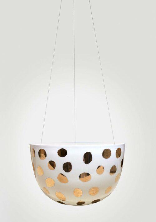 Decorative Hanging Planter - Gold Spot
