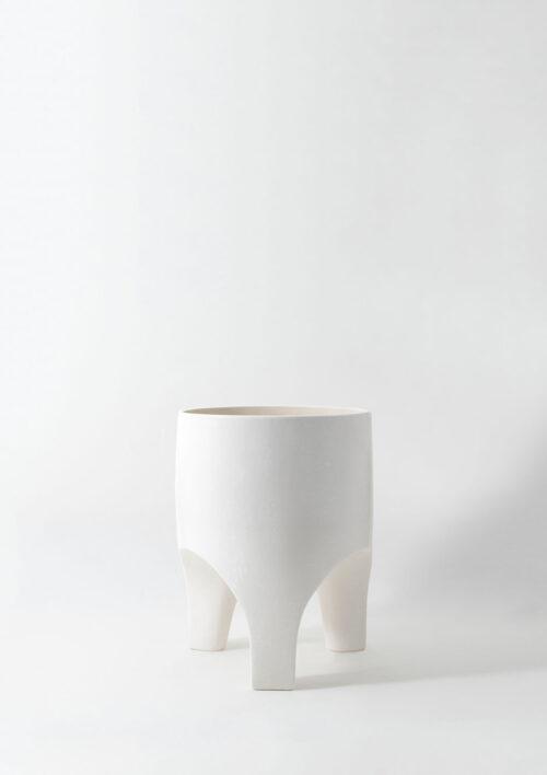 Arched Leg Plant Pot - White