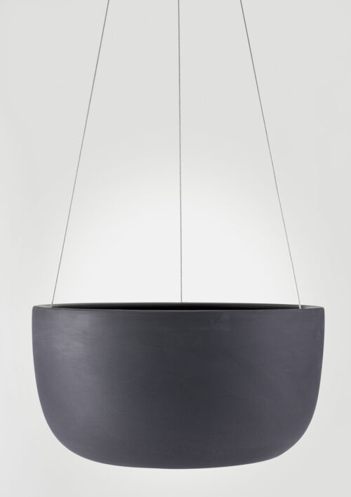 Raw Earth Hanging Planter - Charcoal, Large