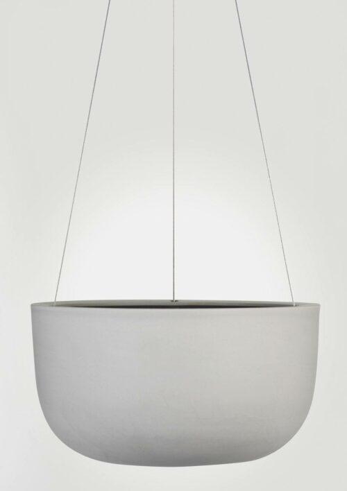 Raw Earth Hanging Planter - Siltstone Grey, Large