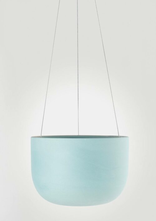 Raw Earth Hanging Planter - Shale Green, Mid