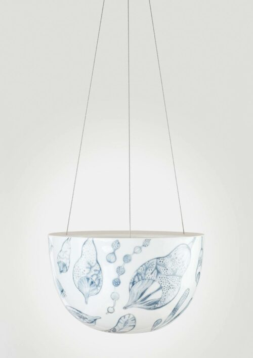 Decorative Hanging Planter - Bush Grey