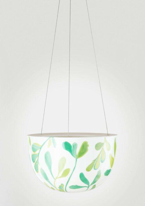 Decorative Hanging Planter - Green Zamia Palm