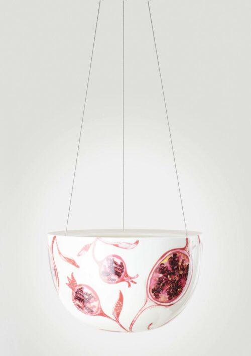 Decorative Hanging Planter - Pomegranate Fruit